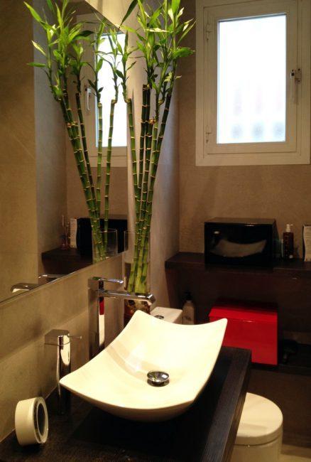 Baño-lavabo-bambu