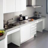 Encimera en cocina adaptada
